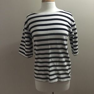 JCrew striped short sleeve sweater
